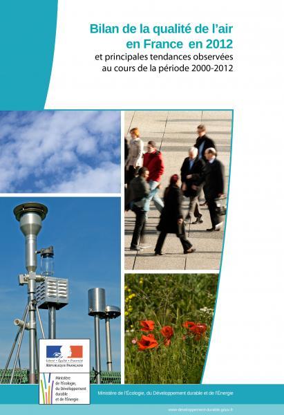Bilan de la qualité de l'air en France en 2012